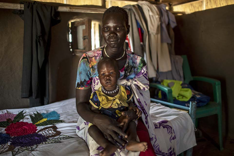South Sudan mother and child