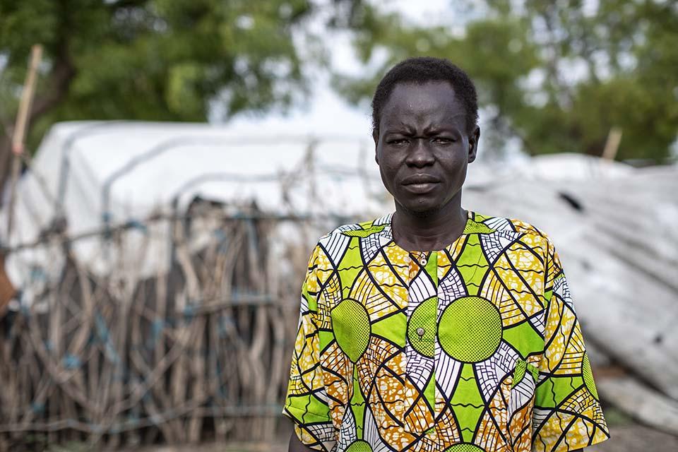 South Sudanese man facing camera