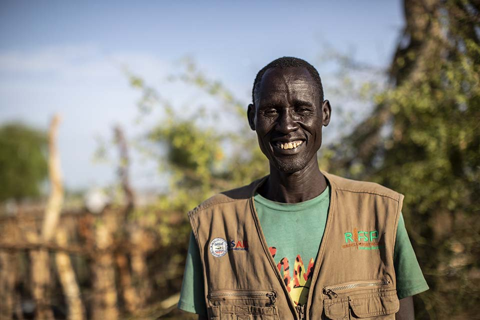 South Sudanese risk reduction committee member facing camera
