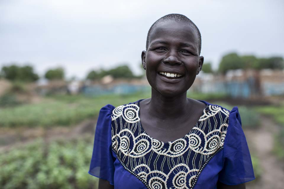woman in South Sudan farm producer group