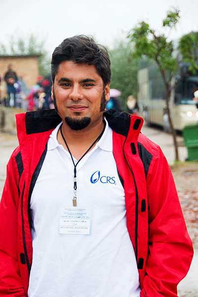 Kemal El Shairy is the chief translator for CRS in Serbia. Since the European migrant crisis began in January 2015, CRS has responded with immediate help to more than 63,000 people. Photo by Kira Horvath for CRS