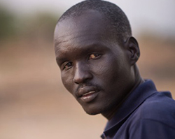 John Gai Alier—who fled violence in Jonglei—is helping CRS with our emergency response in Lake State, South Sudan. Photo by Sara A. Fajardo/CRS