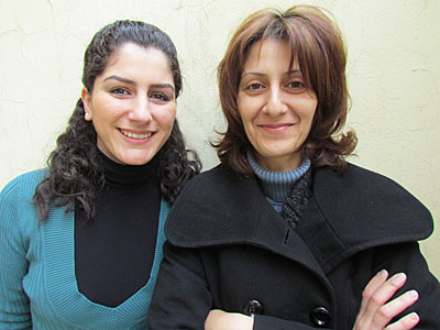 Dunnia Matta, left, and Randa Alam run the CRS-supported program in Damascus that helps thousands of Iraqi refugees living in Syria get quality health care. Photo by Liz O'Neill/CRS