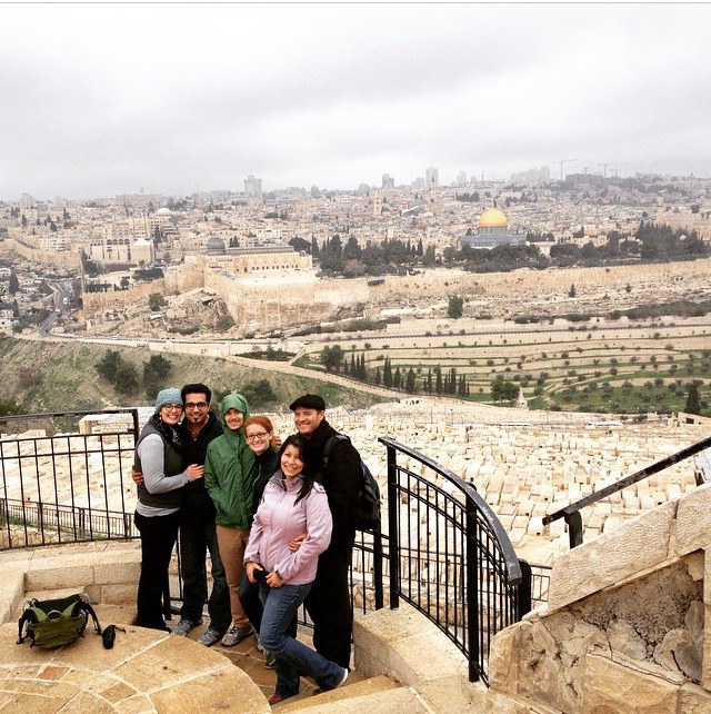 Fellows and spouses at The Mount of Olives in Jerusalem's Old City.  Photo Credit: Maggie Holmesheoran