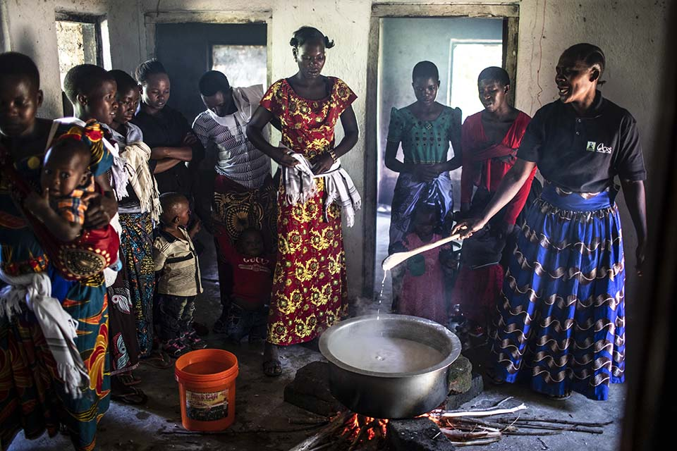 Tanzania cooking demo