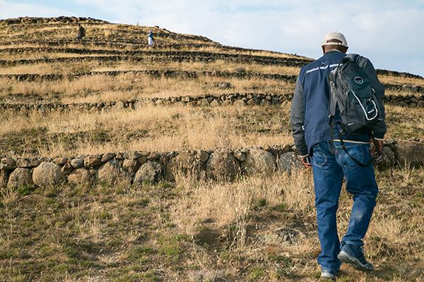terraced mountainside in Lesotho