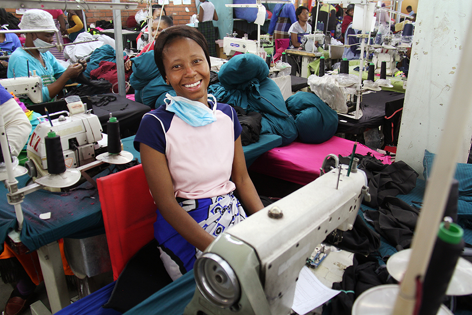textile worker in Lesotho