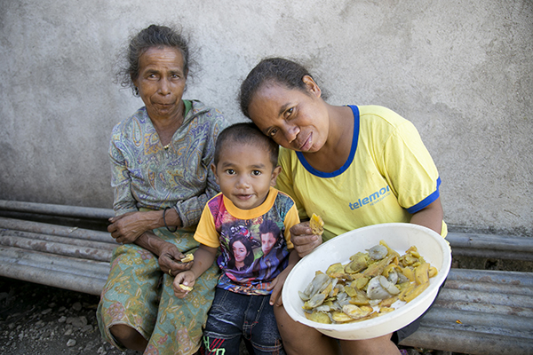 family in timor leste
