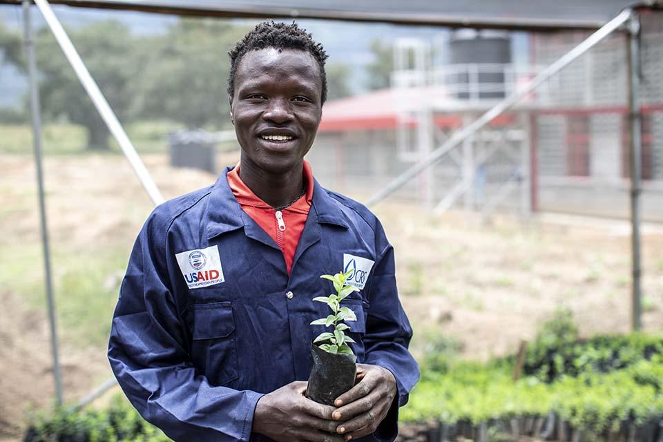 Uganda agroforestry student