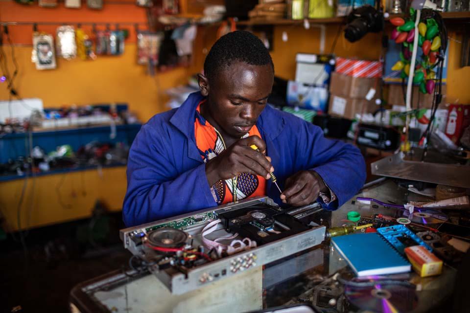 Uganda apprentice at work