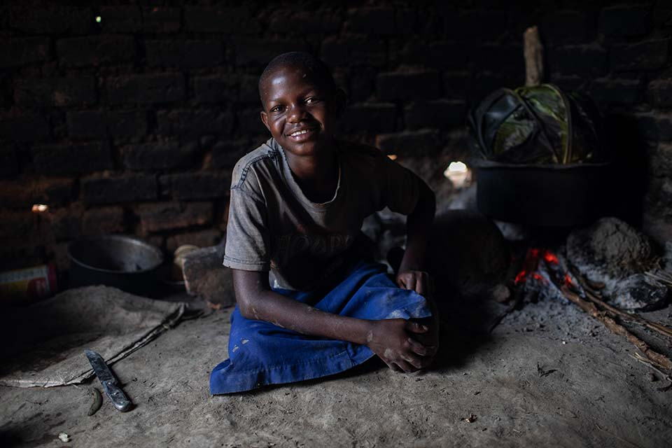 Uganda girl at home