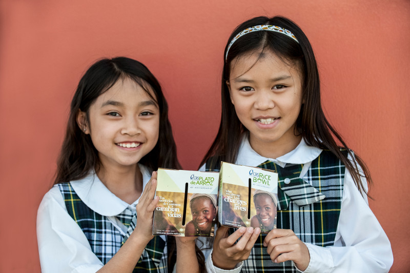 Faith and Leanne Hernandez and their family are part of a church and school that practice the Lenten traditions of prayer, fasting and almsgiving with CRS Rice Bowl.