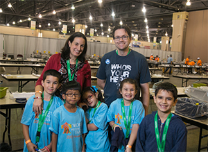 The Lopez family from Miami, Florida assembled meals during the World Meeting of Families in Philadelphia in September 2015.