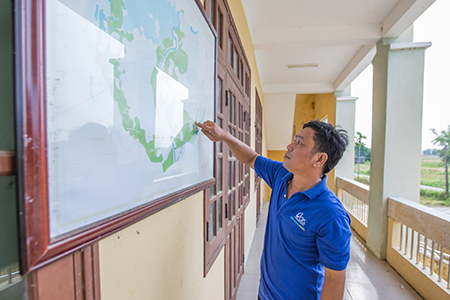 As a result of community engagement, Thuong and his TSG have produced a local hazard map to keep villagers safe from climate threats.