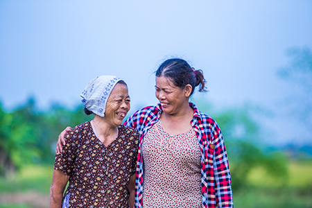 Xuan and her mother now have peace of mind with an early warning system and evacuation plan that will help protect them during destructive storms.