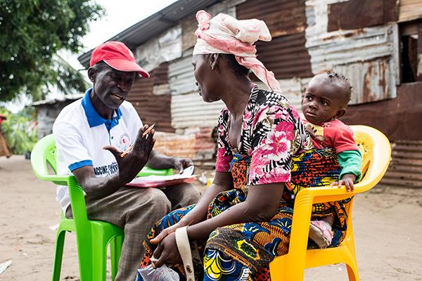 community volunteer visit in Liberia
