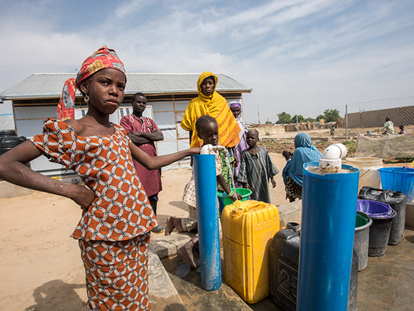 water for boko haram survivors in Nigeria
