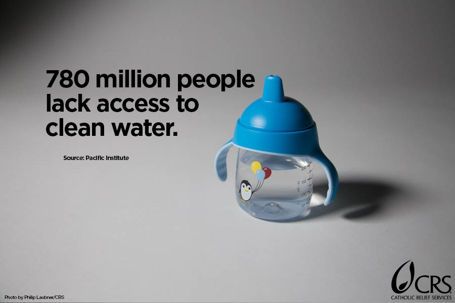 780 million people lack access to clean water.