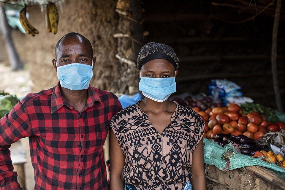 wife and husband in Kenya