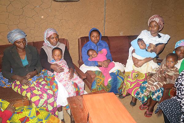 savings group meets in Rwanda