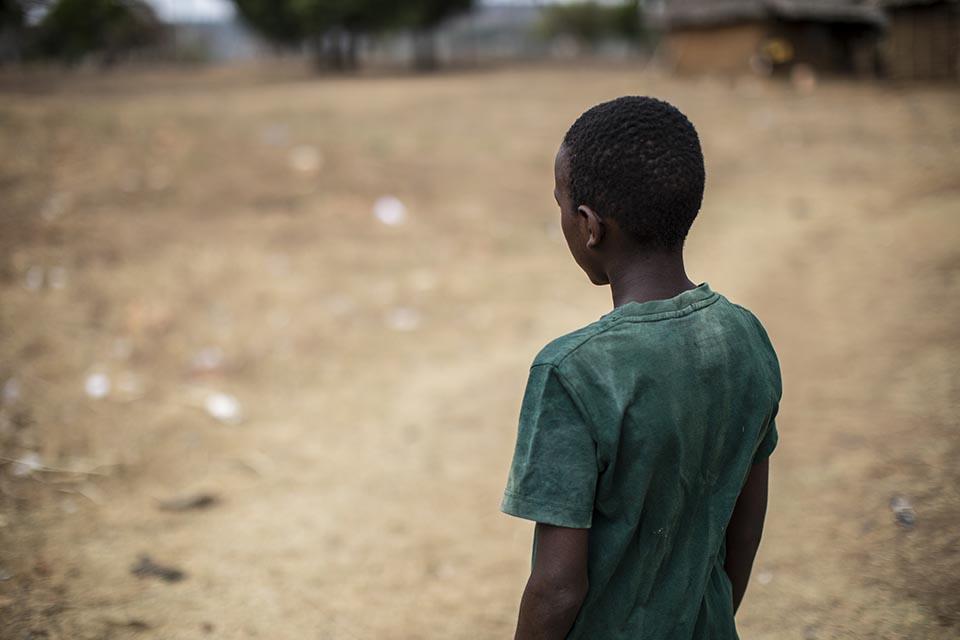 young boy in Kenya