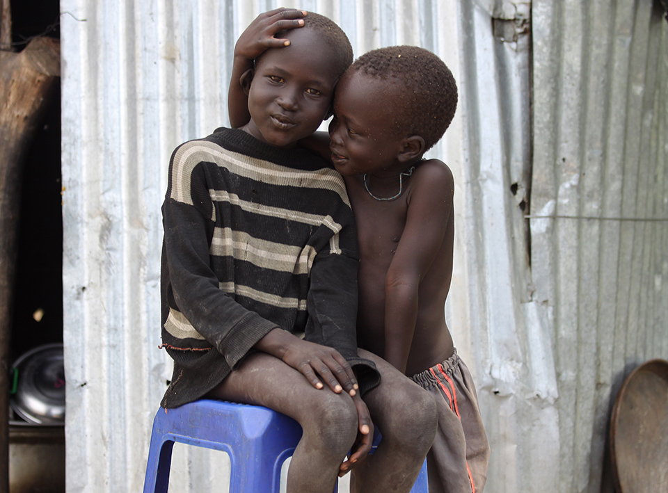 young friends in South Sudan