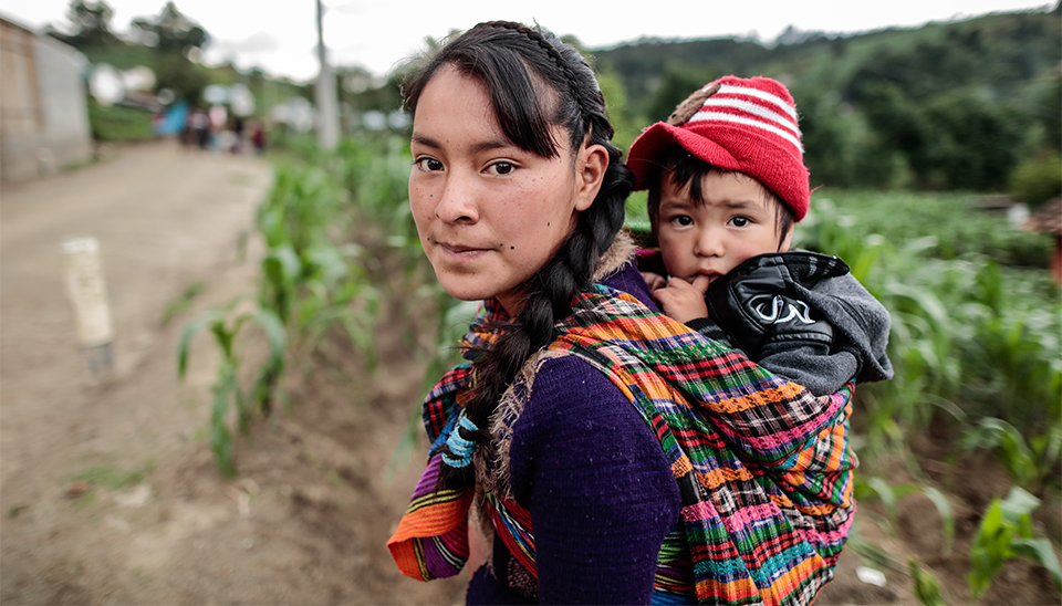 young mom and daughter in Guatemala