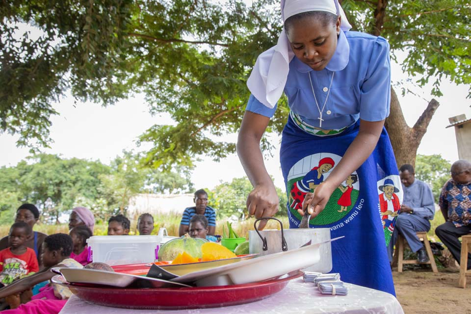 Zambia cooking demonstration