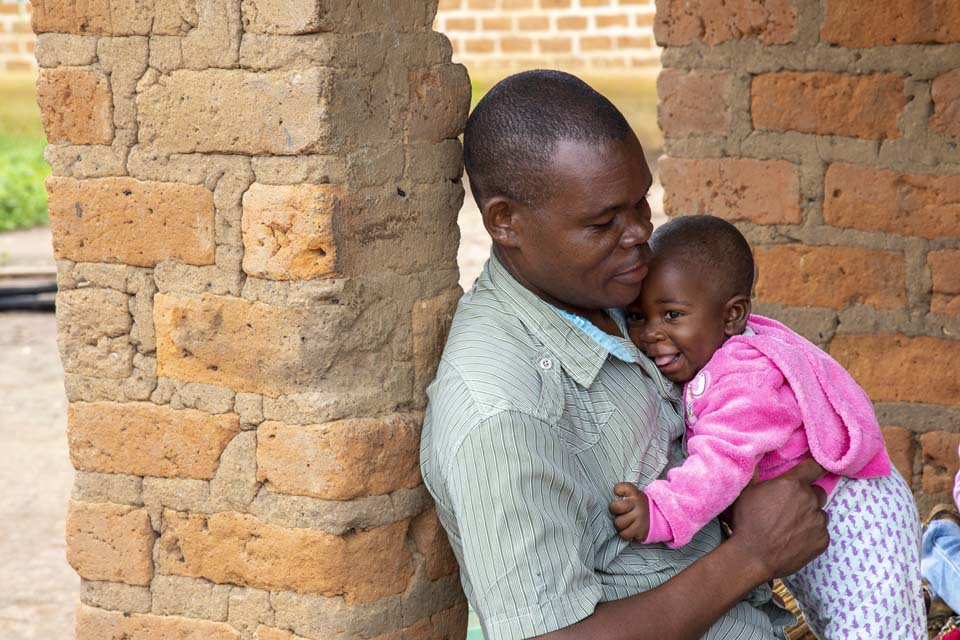 Zambia father and daughter
