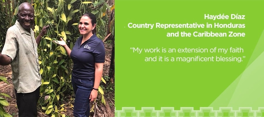 Haydée Díaz, Country Representative in Honduras and the Carbbean Zone. 'My work is an extension of my faith and it is a magnificent blessing.'