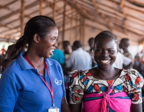 Mother registers her child for Palasca Elementary school in the Philippines.
