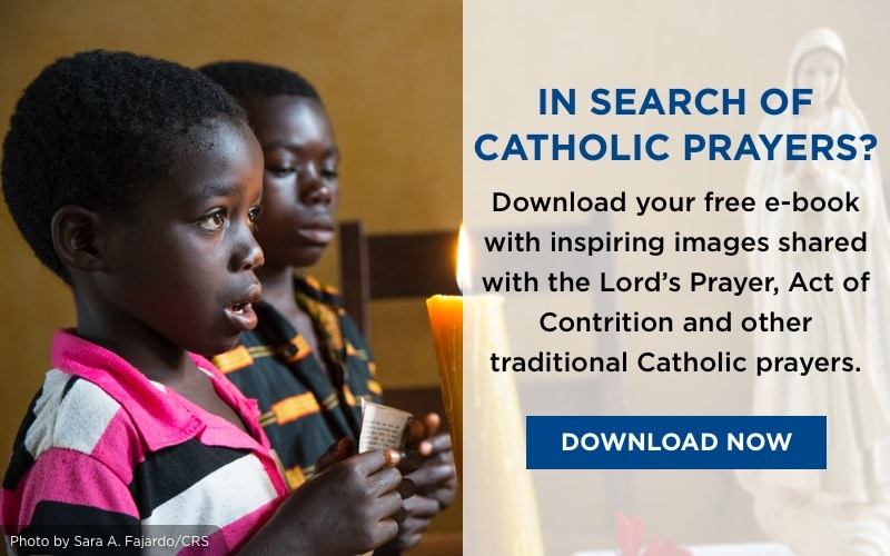 In search of Catholic Prayers? Download your free ebook with traditional prayers and inspiring images. Download Now.