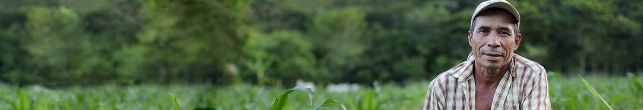 farmer in field in Nicaragua