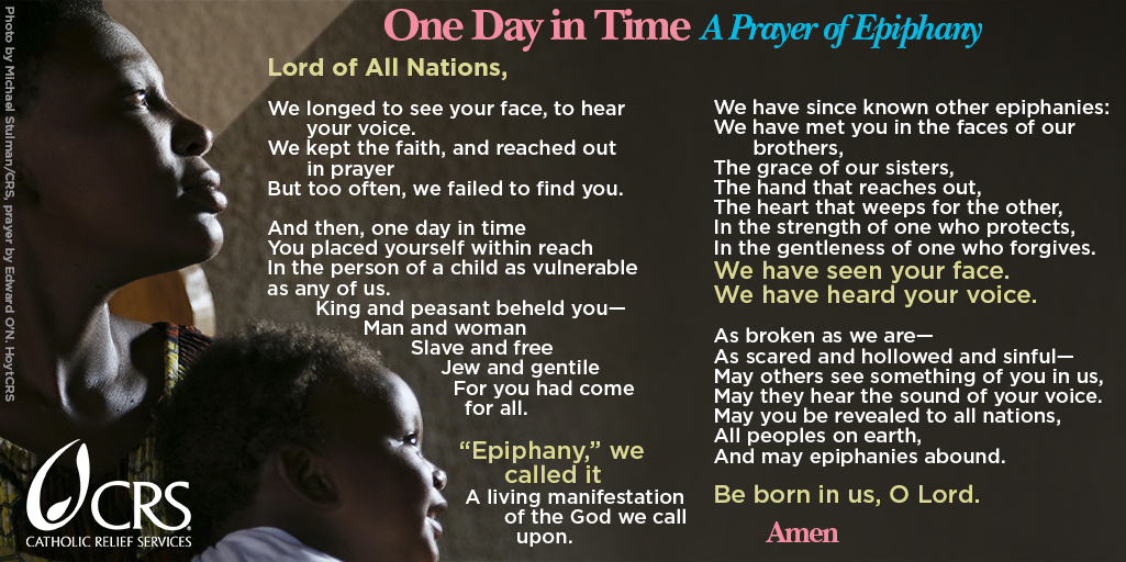 """One Day in Time: A Prayer of Epiphany"" from Catholic Relief Services"