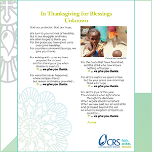 In Thanksgiving for Blessings Unknown