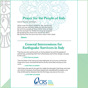 Prayer and General Intercessions for the People of Italy