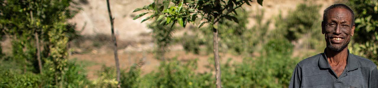 farmer involved in improving soil in Ethiopia