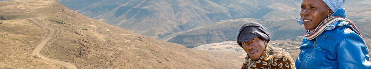 mountainside in Lesotho