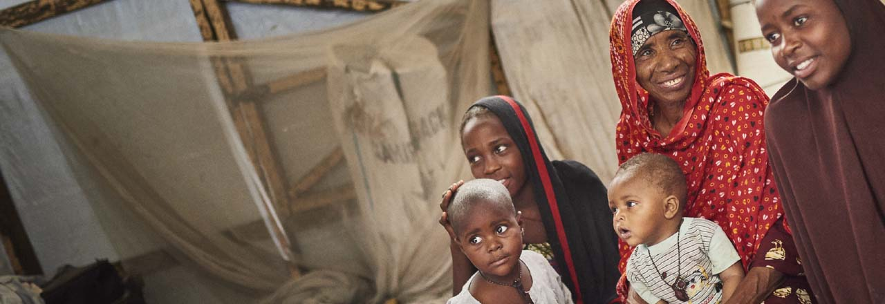 displaced Nigerian family