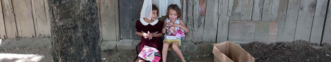 young girls at play in Honduras