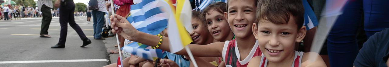 Children at parade in Cuba