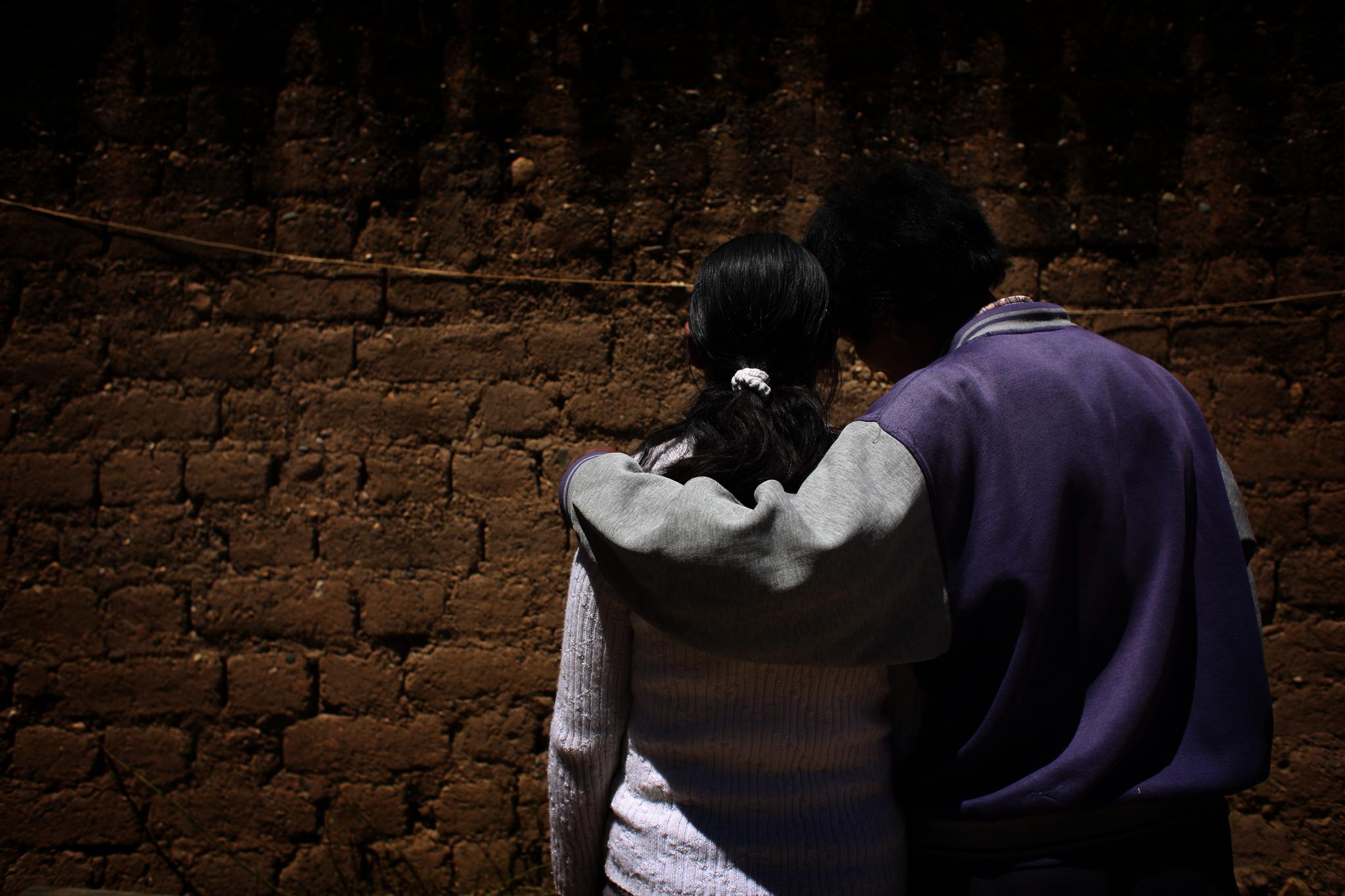 "This is ""Fany"" and her father ""Felix."" Fany was kidnapped from her home and taken to Madre de Dios in the Peruvian Amazon. Her father looked for her for a month until he found her working in a brothel when she was just 12."