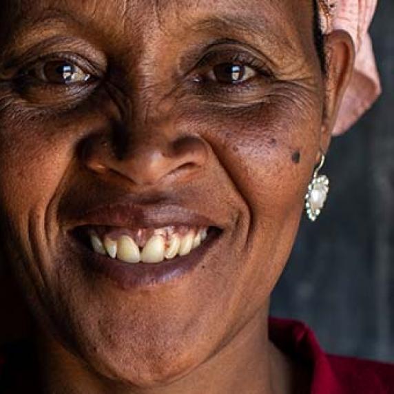 Ethiopian woman smiling