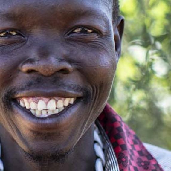 smiling man in Uganda