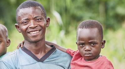 family in DR Congo