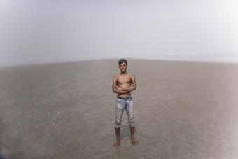 Rising sea levels are pushing people into situations that they may not have chosen. Photo by Ismail Ferdous for CRS