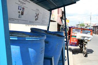 CRS' waste management program includes regular garbage pickup and recycle bins. In communities prone to flooding, floodwaters wash up garbage, which prevents waters from receding.