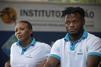 <b>Popole Misenga<br />Sport:</b> Men's Judo (90 kg)<br /><b>Native Country:</b> Democratic Republic of the Congo<br /><b>Host Country:</b> Brazil<br />Photo by IOC/Douglas Engle