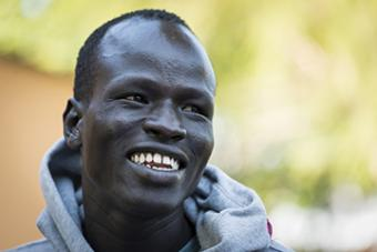 <b>Yiech Pur Biel<br />Sport:</b> Men's Track and Field (800 m)<br /><b>Native Country:</b> South Sudan<br /><b>Host Country:</b> Kenya<br />Photo by IOC/Claire Thomas