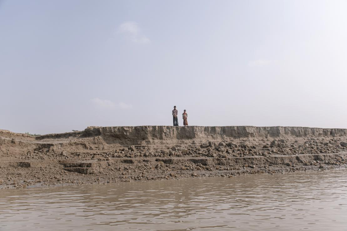 Twenty million people in low-lying southern Bangladesh could be forced off their land by the end of 2100 because of rising sea levels. Photo by Ismail Ferdous for CRS
